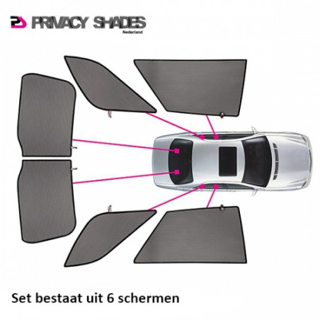 Car shades Peugeot 307 Break 2001- autozonwering