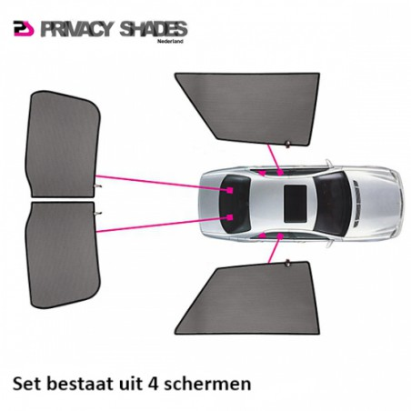 Car shades Toyota Yaris II 3-deurs 2005-2011 autozonwering