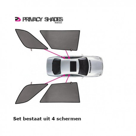 Privacy shades BMW 3-Serie E46 Touring 1998-2005 (alleen achterportieren 4-delig) autozonwering