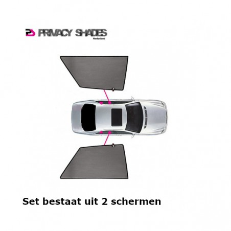 Privacy shades Fiat 500L 5 deurs 2012- (alleen achterportieren 2-delig) autozonwering