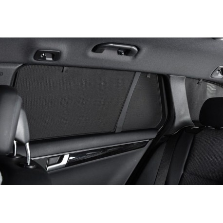 Privacy shades Ford Transit Connect 5 deurs 2013- (LWB) (alleen achterportieren 2-delig) autozonwering