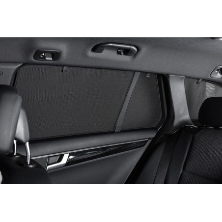 Privacy shades Nissan X-Trail 5 deurs 2013- (alleen achterportieren 2-delig) autozonwering