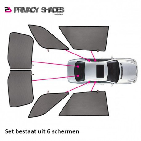 Car shades Fiat Stilo Wagon 2001-2007 autozonwering