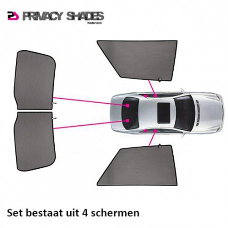 Car shades Ford Fiesta VII 3-deurs 2008-2017 autozonwering